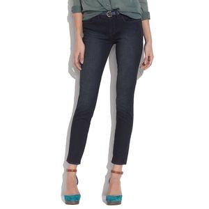 Madewell Skinny Skinny Ankle Jeans Dark Blue